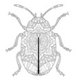zentangle stylized beetle hand drawn lace vector image vector image
