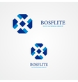 ribbon design logo vector image
