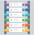 6 infographic timeline template business concept vector image