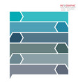 abstract element infographics 6 option design for vector image vector image