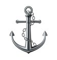Anchor on white background vector image