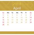 april 2018 calendar popular premium for business vector image vector image