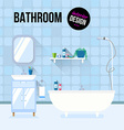 Bathroom interior design vector image