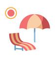 beach chair flat vector image vector image