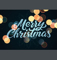 calligraphic christmas card with bokeh effect vector image vector image