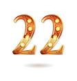 celebrating of 22 years anniversary vector image