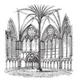 chapter-house salisbury cathedral architecture vector image vector image