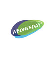 colorful wednesday icon vector image vector image