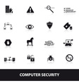 computer security icons eps10 vector image vector image