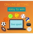 concept for web banner sports betting statistics vector image