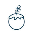 contour healthy tomato vegetable icon vector image vector image