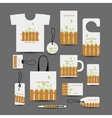 Corporate business objects wooden style for your vector image vector image
