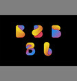 Creative colorful letter b logo set