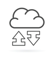 data exchange cloud service icon vector image vector image