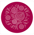 Decorative flower in circle ornament vector image vector image