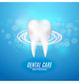 Dental care poster design Tooth Icon clean healthy vector image