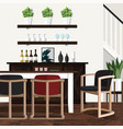 dining room decorating ideas for home vector image vector image