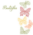drawing butterflies vector image