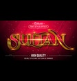 editable text style effect - sultan with gold