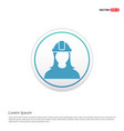 engineer user icon - white circle button vector image