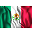 Flag of Mexico Rectangular Shaped Icon vector image vector image