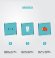 flat icons uniform kettlebells boxing and other vector image vector image