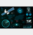 futuristic user interface elements template hud vector image vector image