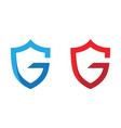 g letter shield vector image vector image