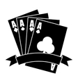 gambling game design vector image