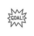 goal scored celebrating success line icon vector image vector image