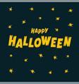 happy halloween text banner cartoon vector image vector image