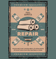 house repair vintage banner with work tool vector image vector image