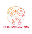implement solutions red gradient concept icon vector image vector image