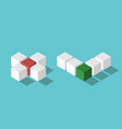 isometric no and yes vector image