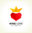 king love logo vector image