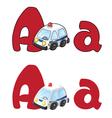 letter A ambulance vector image