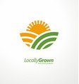 locally grown farm fresh product simple logo vector image vector image