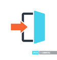 login icon in trendy flat style vector image vector image