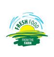 logo fresh food from farm vector image vector image