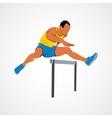 Man jump hurdles vector image