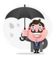 man with umbrella for your design vector image vector image