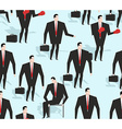 Manager seamless pattern Business varied in vector image vector image