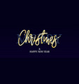 merry christmas new year golden glitter text vector image vector image