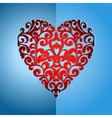 ornate heart vector image vector image