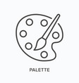 palette flat line icon outline vector image vector image