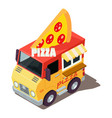 pizza machine icon isometric style vector image vector image