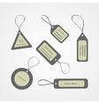 Retro style tags collection vector image vector image