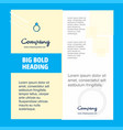 ring company brochure title page design company vector image vector image
