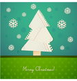 ripped paper christmas design vector image vector image