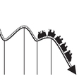 roller coaster graph vector image vector image
